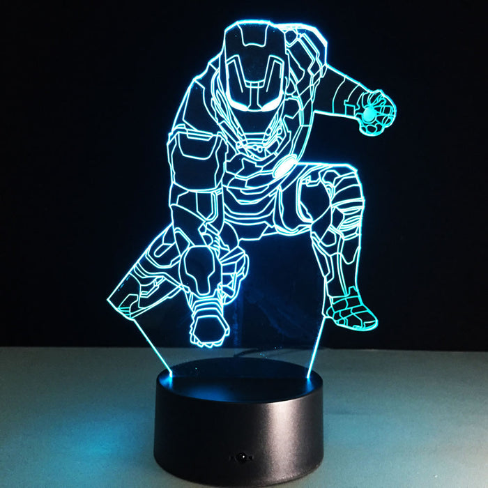 Ironman Ground Punch 3D LED Lamp