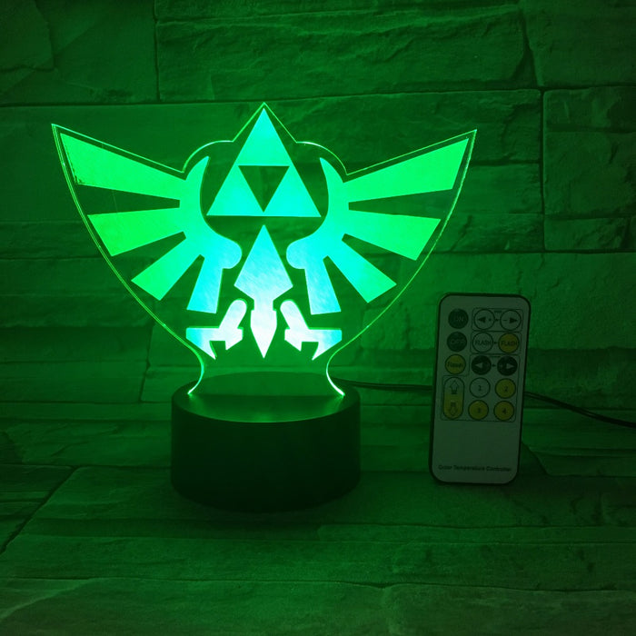 Triforce 3D LED Lamp