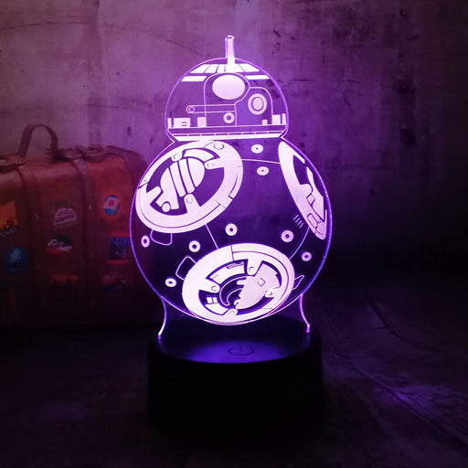 BB-8 3D LED Lamp