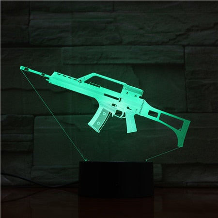 Assault Rifle 3D LED Lamp
