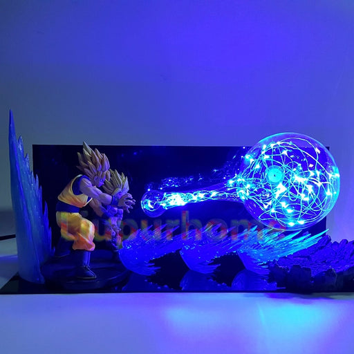 Goku and Gohan Kamehameha Action Figure Lamp