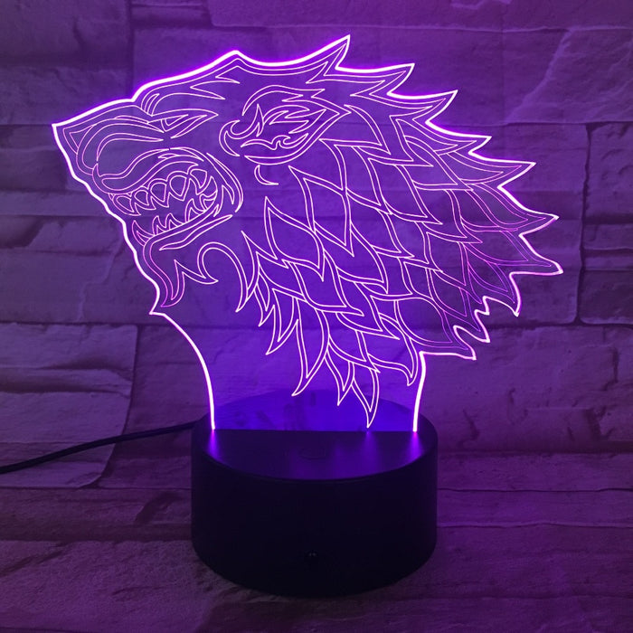 House Stark 3D LED Lamp