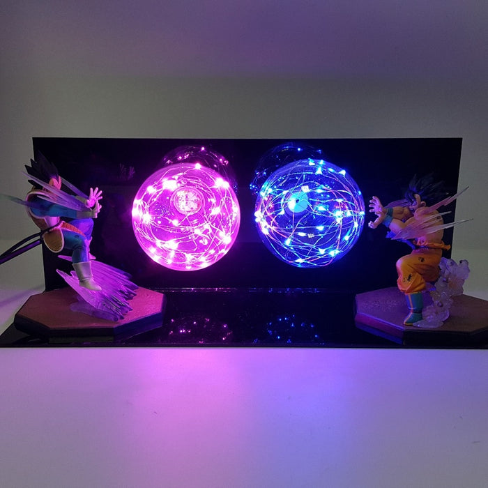 Goku vs Vegeta (Kamehameha and Galick Gun) Action Figure Lamp