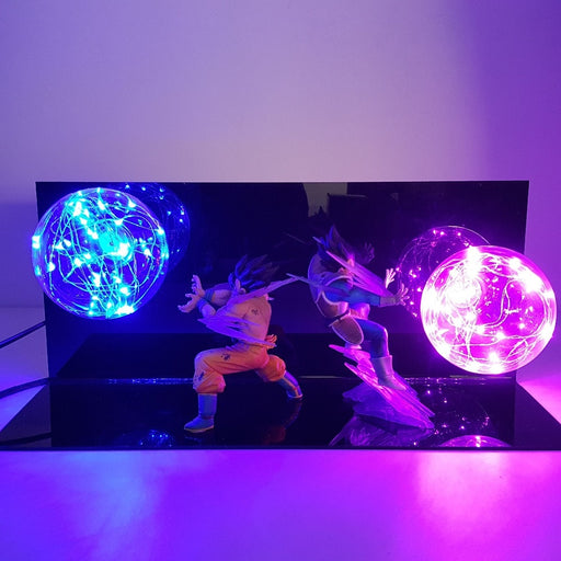 Goku and Vegeta (Kamehameha and Galick Gun) Action Figure Lamp