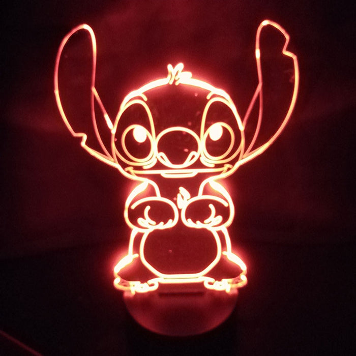 Stitch 3D LED Lamp