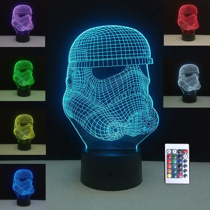 Stormtrooper 3D LED Lamp