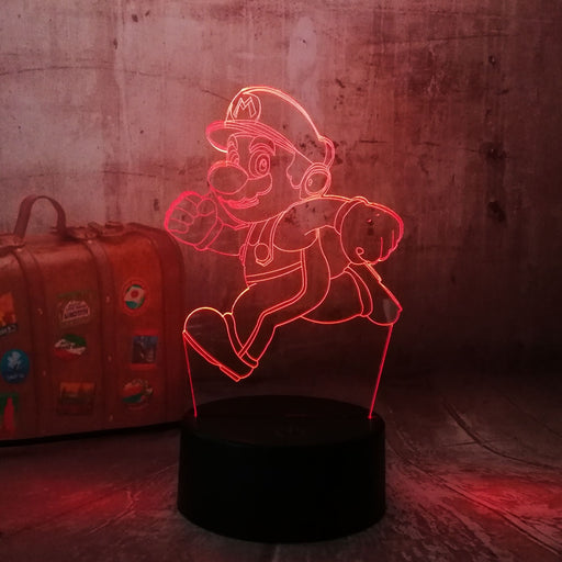 Running Mario 3D LED Lamp