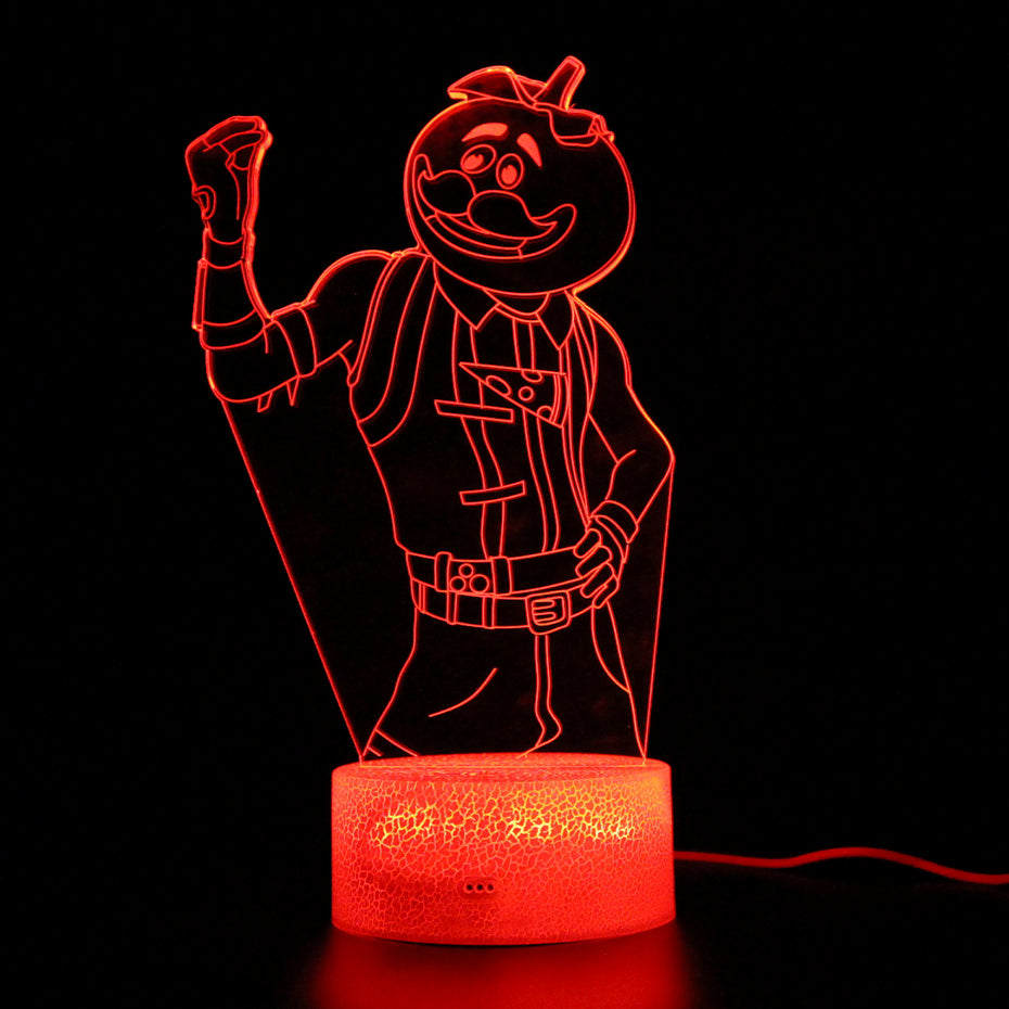 Tomato Head 3D LED Lamp
