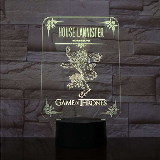 House Lannister 3D LED Lamp