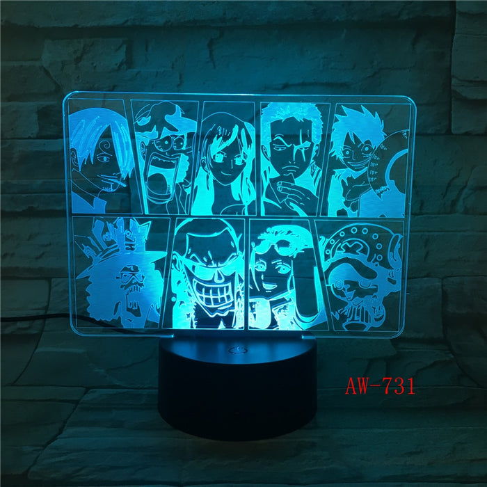 One Piece Team 3D LED Lamp