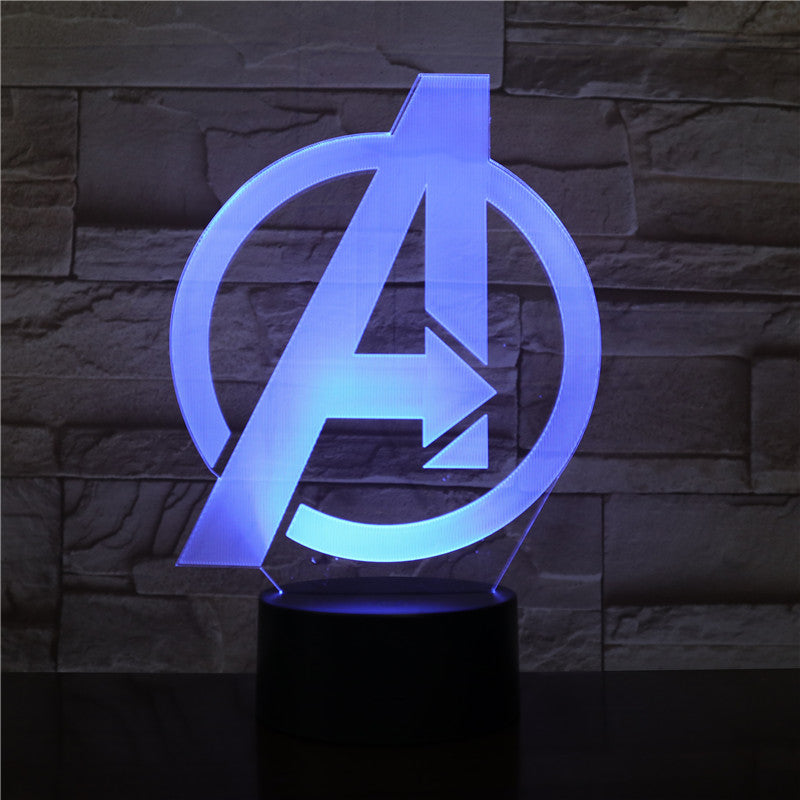Avengers Logo 3D LED Lamp