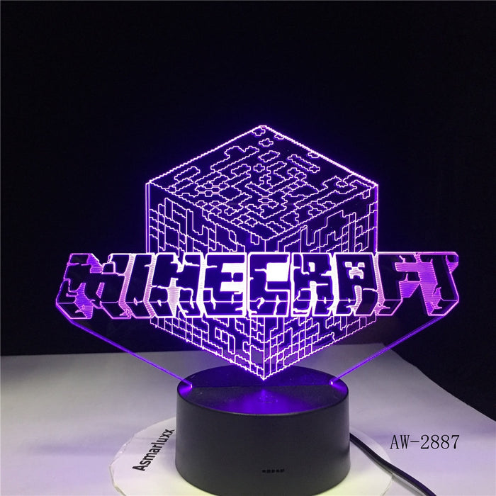 Minecraft 3D LED Lamp