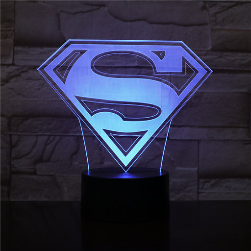 Superman Logo 3D LED Lamp