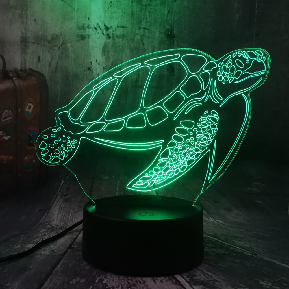Turtle 3D LED Lamp