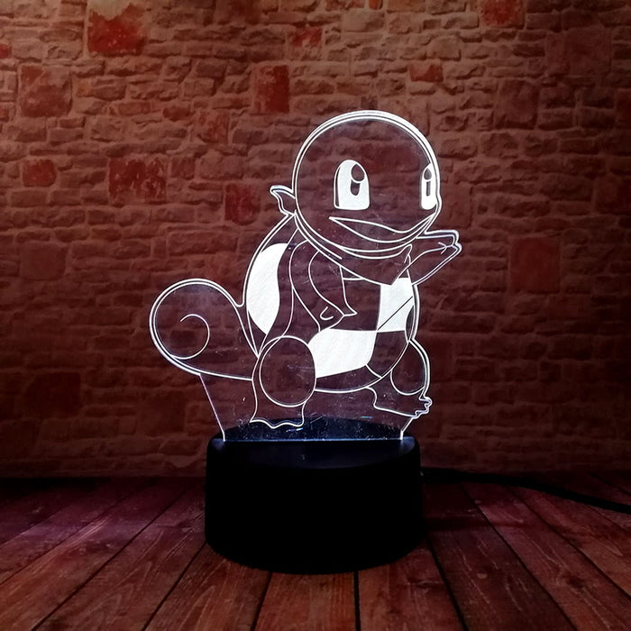Squirtle 3D LED Lamp
