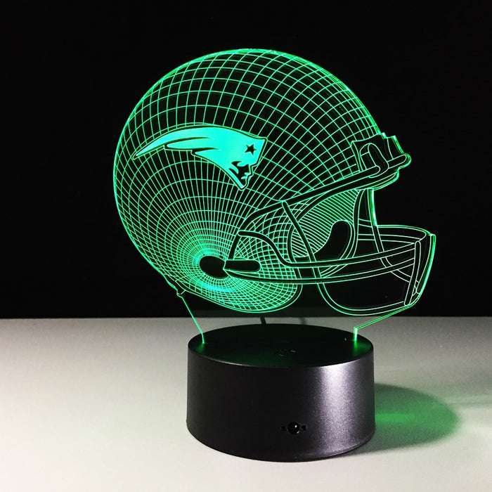 New England Patriots Helmet 3D LED Lamp