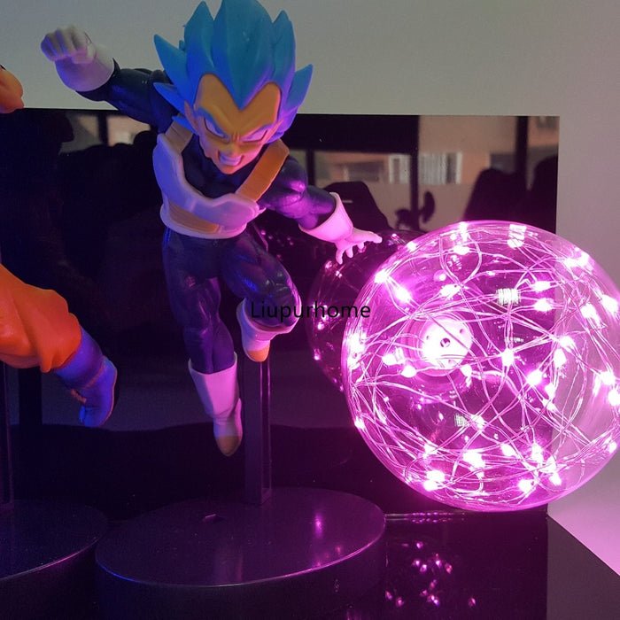 Super Saiyan Blue Goku and Vegeta LED Blasts Action Figure Lamp