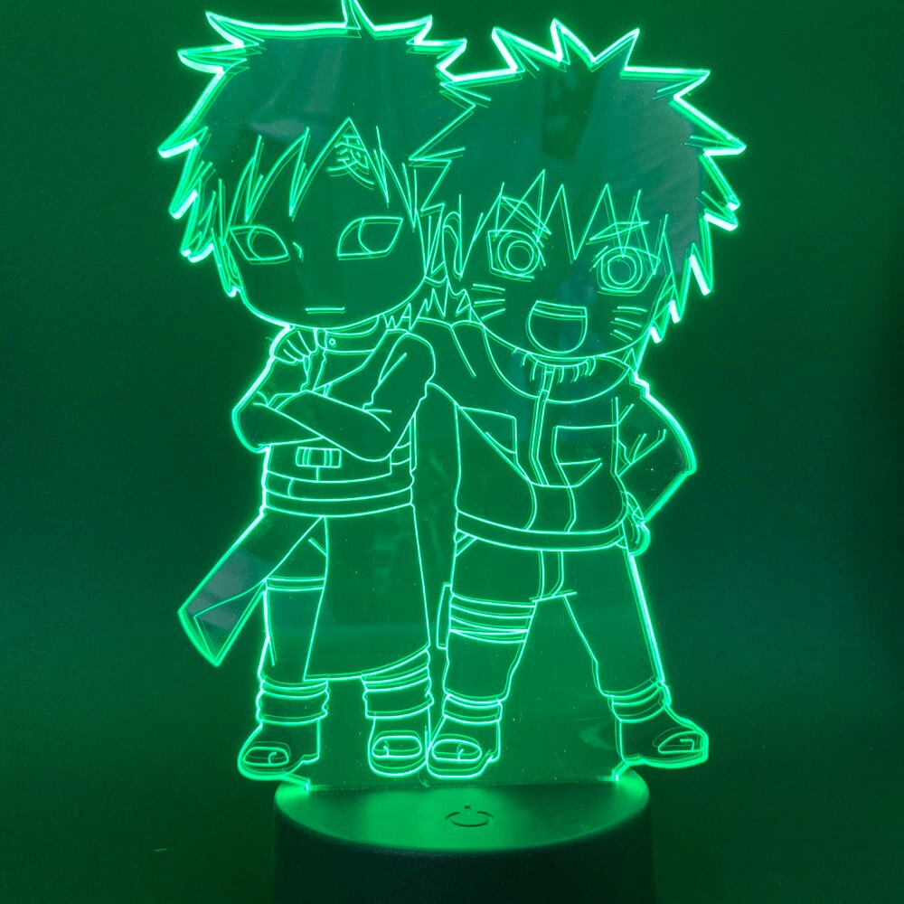 Naruto and Gaara 3D Lamp
