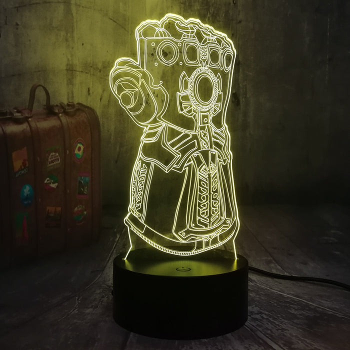 Infinity Gauntlet 3D LED Lamp