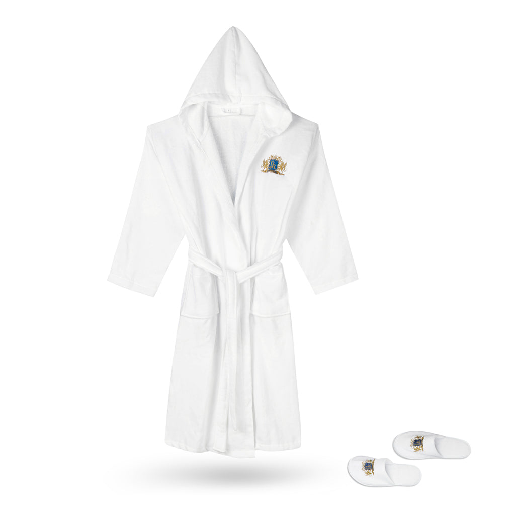 Luxury Hooded Velour Bathrobe