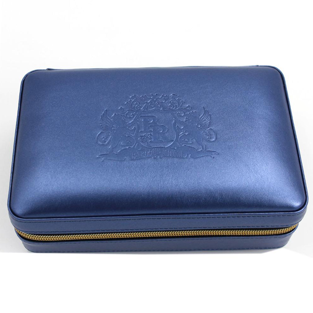 Baroque Royale - Travel Cigar Humidor - Blue - Front