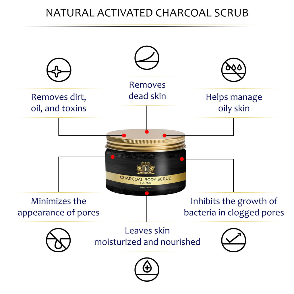 Baroque Royal - Activated Charcoal Body Scrub - Info 1