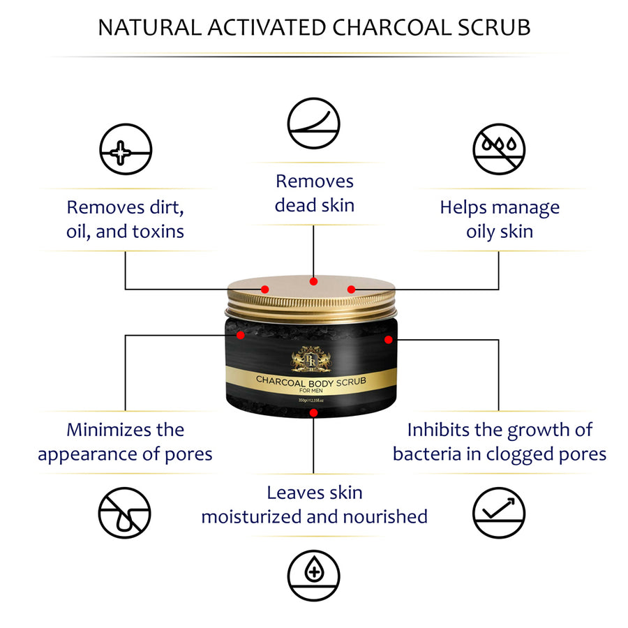 Baroque Royal - Activated Charcoal Body Scrub - Main