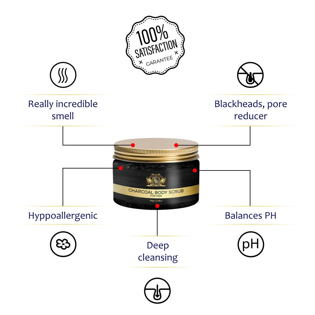 Baroque Royal - Activated Charcoal Body Scrub - Info 2