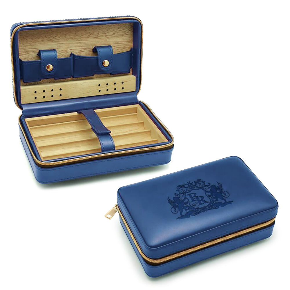 Travel Cigar Humidor - Blue