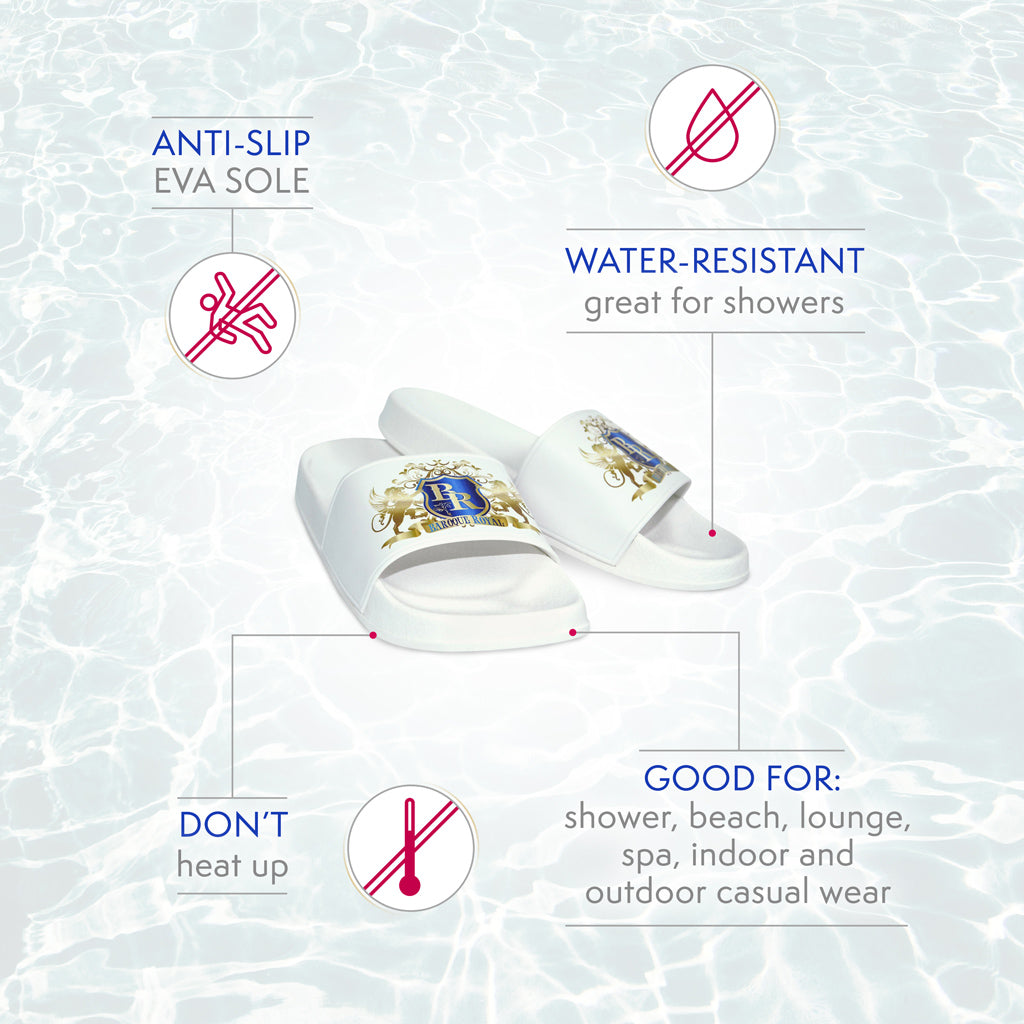 Baroque Royal Sport-Chic Rubber Slippers - White - info