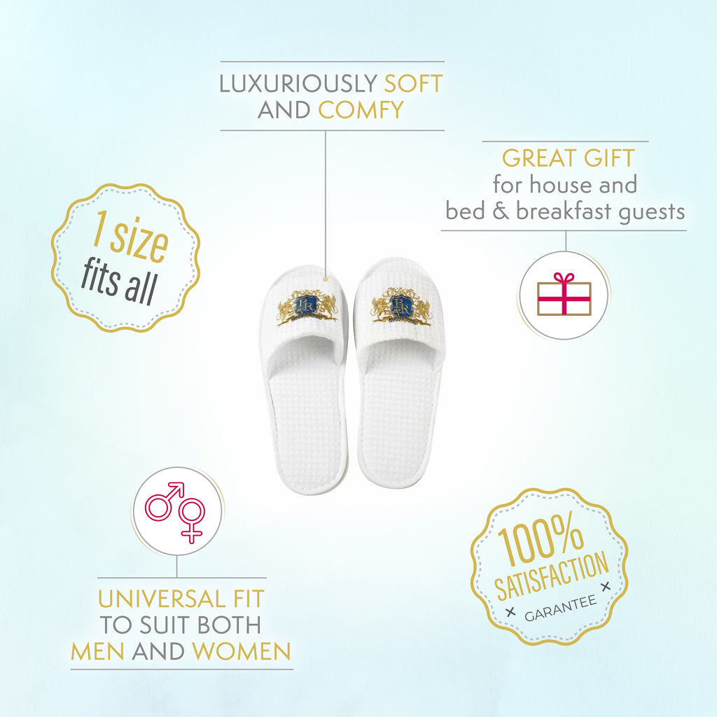 Baroque Royale - Disposable Slippers - Waffle - Info 1