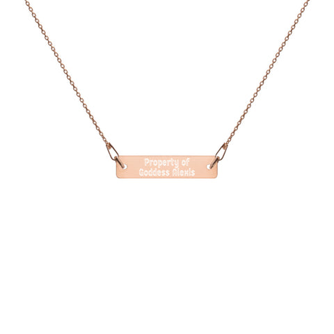 Property of Goddess Alexis Engraved Necklace