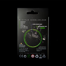 Load image into Gallery viewer, MoonOn Wheelaglows - wireless bicycle rim glow in the dark system kit - electro green.
