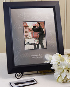 Contemporary Signature Frame Guest Book - I Do Engravables