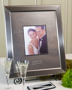 Titanium Frame Guest Book - I Do Engravables