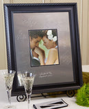 Elegant Black Signature Frame Guest Book - I Do Engravables