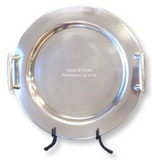 Contemporary Round Signature Platter Guest Book - I Do Engravables