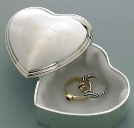 Personalized Heart Trinket Box - I Do Engravables