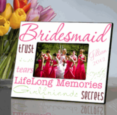 Bridesmaid Frame - I Do Engravables