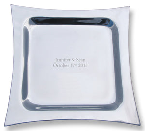 Metro Signature Platter Guest Book - I Do Engravables