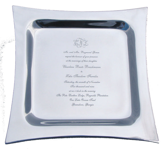 Metro Invitation Platter - I Do Engravables