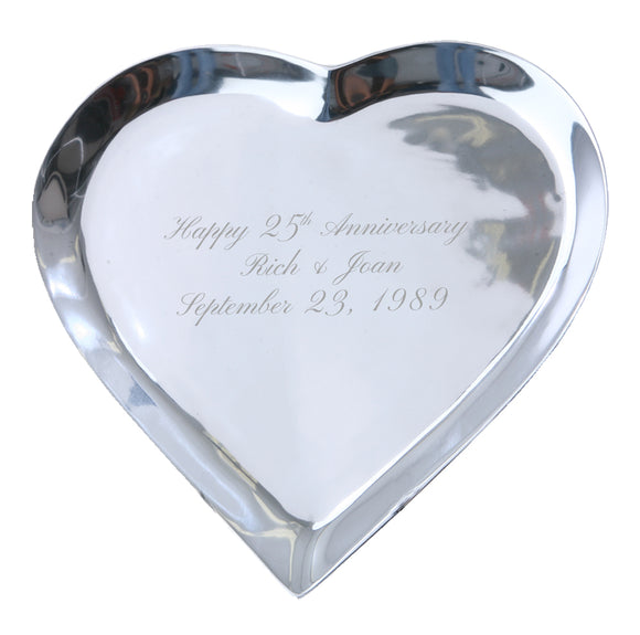 Heart Signature Platter Guest Book - I Do Engravables