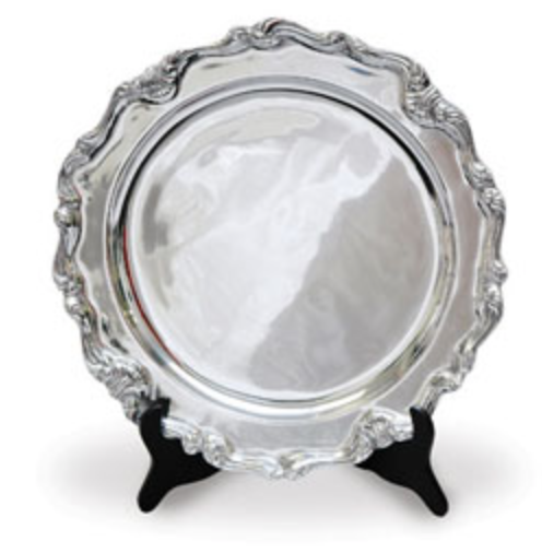 Victorian Signature Platter Guest Book - I Do Engravables