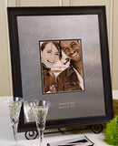 Vintage Signature Frame Guest Book - I Do Engravables