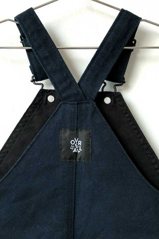 Navy canvas dungarees - archive piece