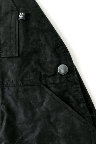 Black waxed canvas dungarees - Archive