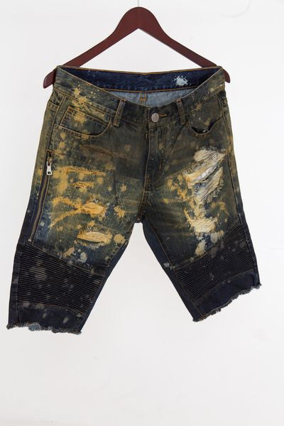 Rust Embellish NYC Shorts