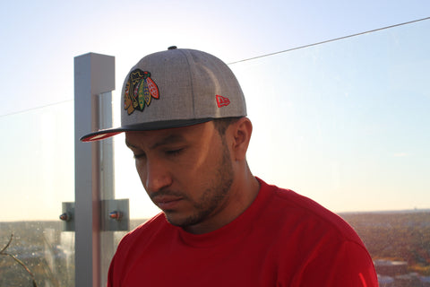 9Fifty Snapback Grey/Black Chicago Blackhawks NHL