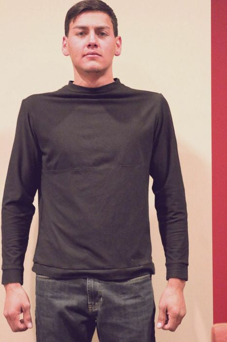 Black Long sleeve T-Shirt Front