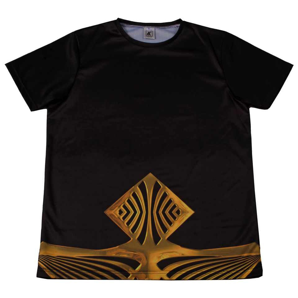 The Cxx Gold Ocean Crewneck T-Shirt
